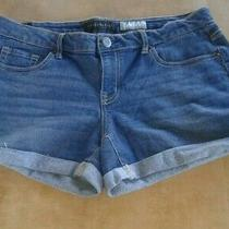 Aeropostale Women Midi Shorts Sz10 Dark Blue Denim  Photo