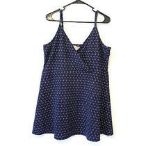 Aeropostale Women's Blue Floral Tank Mini Dress/tunic Size Xxl Photo