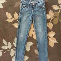 Aeropostale Women's Blue Lola Jegging Jeans Size 4 Regular Photo