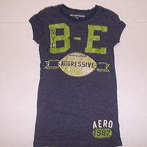 Aeropostale Women's Graphic Tee Size S/p Blue With Graphics Photo