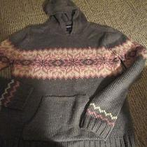 Aeropostale Women's Hoodie Sweater Size Medium Acrylic Lavender/grey/pink Photo