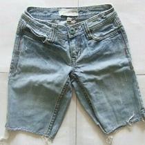 Aeropostale Women's Jeans Shorts Size-0 Blue Photo