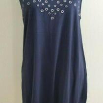 Aeropostale Women's Navy Blue Sleeveless Swing Dress Xl Extra Large Euc Photo
