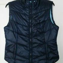 Aeropostale Women's Puffer Jacket-Vest Size L Navy Blue Full Zip Two Pockets Photo