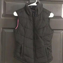 Aeropostale Womens Quilted Puffer Vest. Size Small. Black W/ Pink Lining.  Nwot Photo