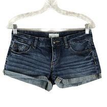 Aeropostale Women's Size 3/4 Cuffed Distressed Denim Shorts Photo