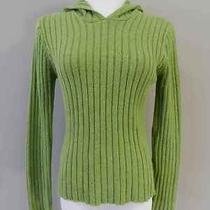 Aeropostale Women's Size L Hooded Long Sleeve Cable Knit Sweater Photo