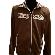 Aeropostale Womens Zip Up Brown Jacket Sweatshirt W/pink Accents Size X-Large Photo