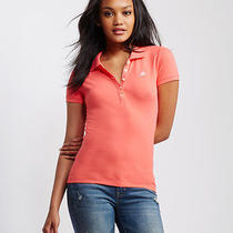 Aeropostale Womens A87 Solid Piqua Polo Shirt Photo