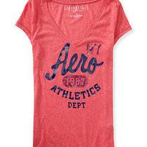 Aeropostale Womens Aero Athletics v-Neck Graphic T Shirt Photo