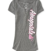 Aeropostale Womens Aero Graphic Henley Shirt Photo