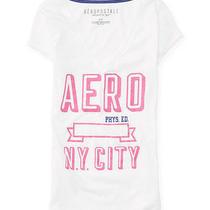 Aeropostale Womens Aero Sparkle v-Neck Graphic T Shirt Photo