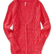 Aeropostale Womens Cable-Knit Boyfriend Cardigan Photo