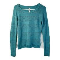 Aeropostale Womens Cable Knit Sweater Long Sleeves Turquoise Blue Size S/petite Photo