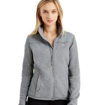 Aeropostale Womens Full Zip Fleece Jacket Grey Large Photo
