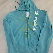 Aeropostale Womens' Full Zip Up Hoodie Size Large Graphic Spray and Logo Photo