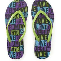 Aeropostale Womens Fun Flip Flop Sandals 377 8 Photo