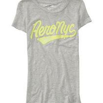 Aeropostale Womens Glitter Puff Paint Embellished T-Shirt Photo