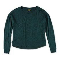 Aeropostale Womens Heather Hi-Lo Pajama Sweater Green Small Photo