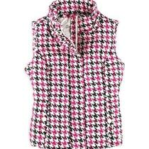 Aeropostale Womens Houndstooth Hooded Puffer Vest Pink X-Small Photo
