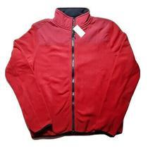 Aeropostale Womens Juniors Fleece Nylon Full Zip Red Navy Jacket Size Medium Photo
