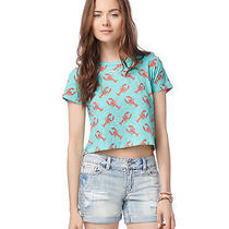 Aeropostale Womens Lobster Crop Graphic T Shirt Photo