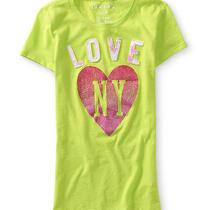 Aeropostale Womens Love Ny Graphic T-Shirt Photo