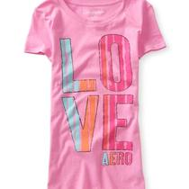 Aeropostale Womens Painted Love Graphic T Shirt Photo