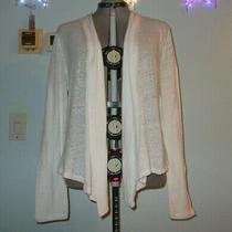 Aeropostale Womens Plus Size Xxl 1x 2x White Coatigan Coat Coverup Winter Wrap Photo