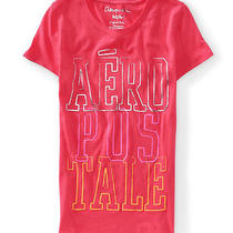 Aeropostale Womens Puff Paint Stacked Aero Graphic T-Shirt Photo