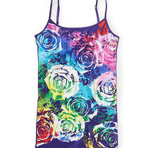 Aeropostale Womens Puff Painted Floral Cami 525 L Photo