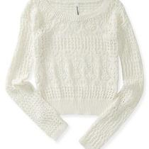 Aeropostale Womens Sheer Cropped Sweater Photo