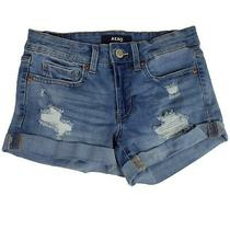 Aeropostale Womens Shorts 2 Blue Low Rise Shorty Stretch Booty Distressed Photo