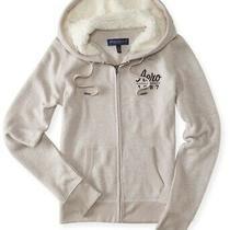 Aeropostale Womens Slim Fit Fleece Hoodie Sweatshirt Brown Small Photo