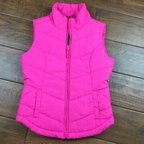 Aeropostale Womens Small Pink Puffer Vest Photo