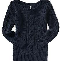 Aeropostale Womens Solid Cable Sweater Photo
