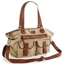 Aeropostale Womens Solid Canvas Satchel Photo