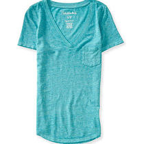 Aeropostale Womens Solid Pocket Embellished T-Shirt Photo
