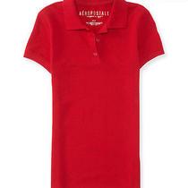 Aeropostale Womens Solid Uniform Piqu Polo Shirt Photo