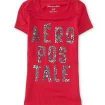 Aeropostale Womens Stacked Logo Graphic T Shirt Photo