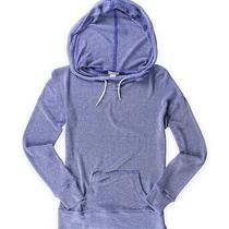 Aeropostale Womens Striped Knit Hoodie Sweatshirt Blue Medium Photo