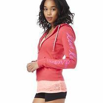 Aeropostale Womens Super Cozy Hoodie Sweatshirt Pink Small Photo