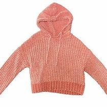 Aeropostale Xs Pink Chunky Crop Hoodie Sweatshirt Sweater Photo