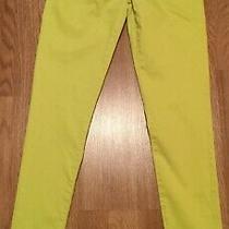 Aeropostale Yellow Skinny Pants Sz 1/2 Low Rise Cotton 5 Pocket Jegging Pants Photo