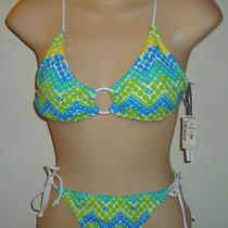 Aeropostale Zig Zag Dotted Bikini Swimsuit Size Xs / S 9147 Photo