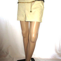 Af20 h&m Casual Formal Tailored Classic Mod Beige Glamour Look Hot Pants Shorts  Photo