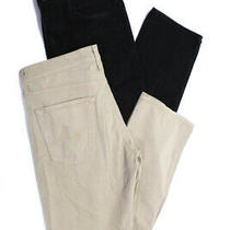Ag Adriano Goldschmied 3x1 Mens Straight Leg Jeans Beige Black Size 32 33 Lot 2 Photo