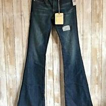Ag Adriano Goldschmied Aged Belle Flare Wide Leg Blue Jeans 24 225 Photo