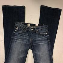 Ag Adriano Goldschmied Belle Flare Low Rise Blue Jeans Womens Sz 24 R Photo