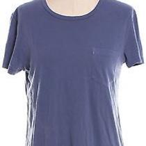 Ag Adriano Goldschmied Blue Cotton Short Sleeve Crewneck T-Shirt Size S Photo